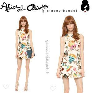 "Alice & Olivia ""Lindsey"" embroidered pouf dress 0"